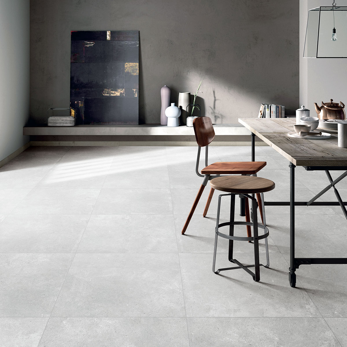 Paradigm - Light Grey - Concrete Look Tiles - Stone3 Brisbane