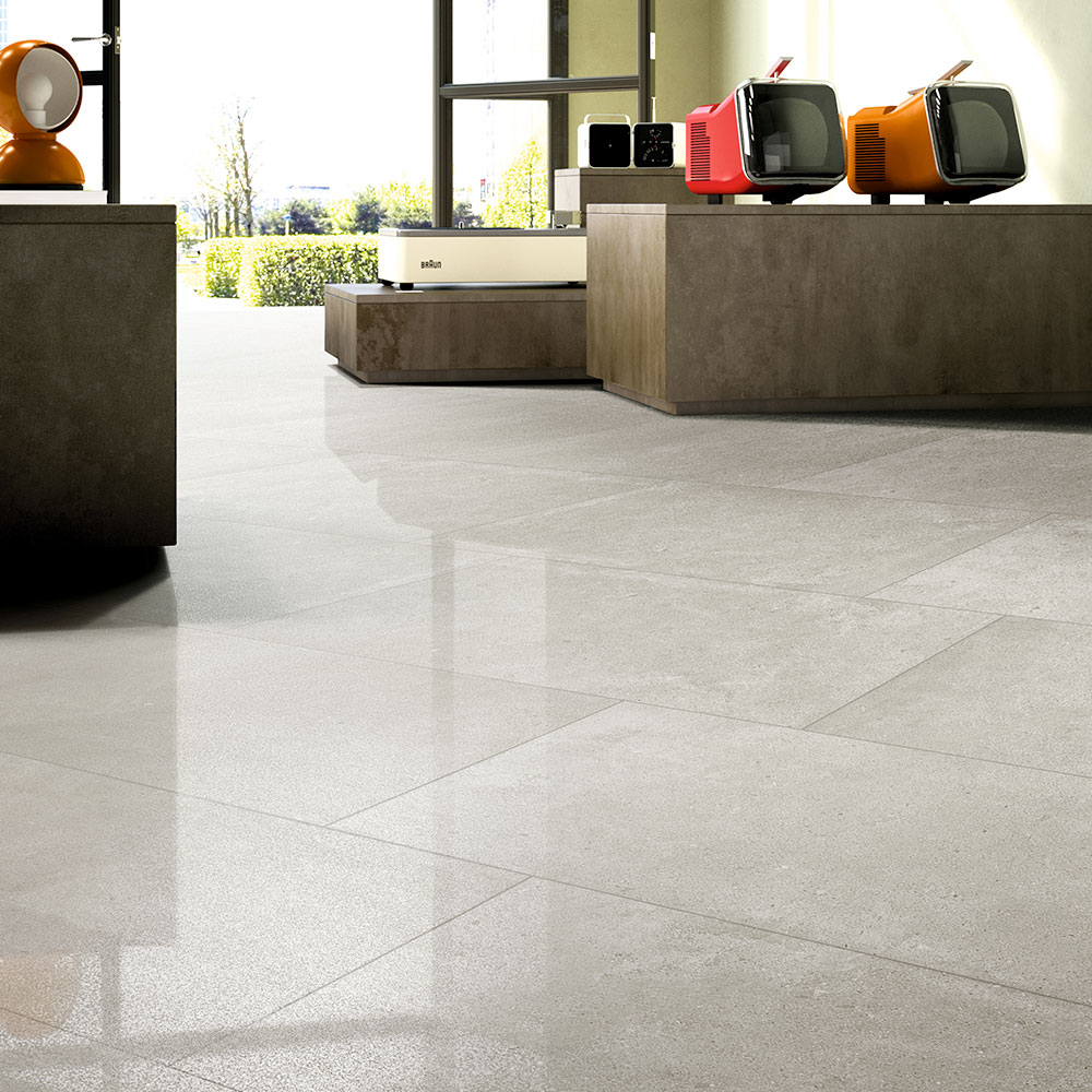 White Paradigm Concrete Look Tile - Stone3 Brisbane