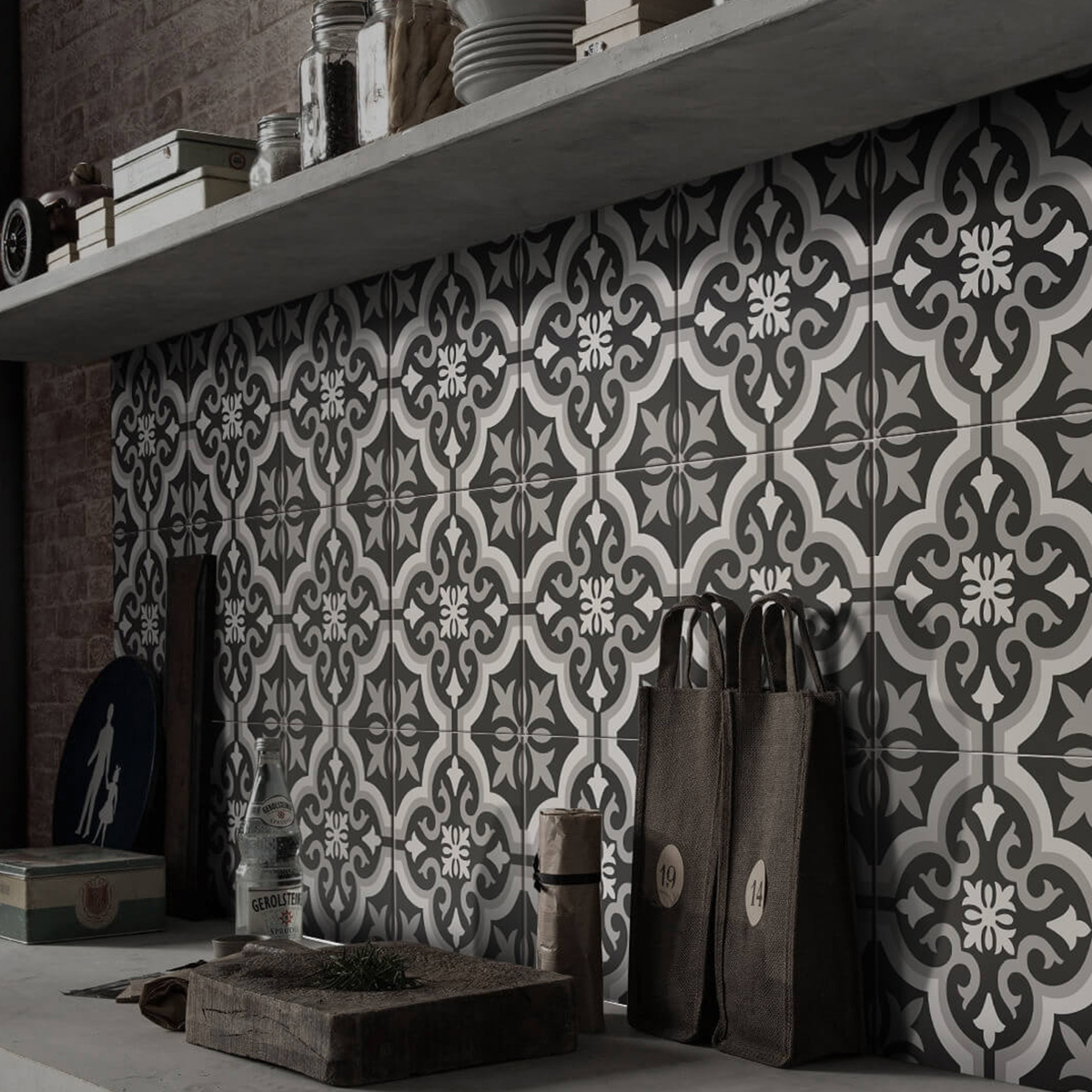 Picasso Classic Mid Patterned Tile - Stone3 Brisbane