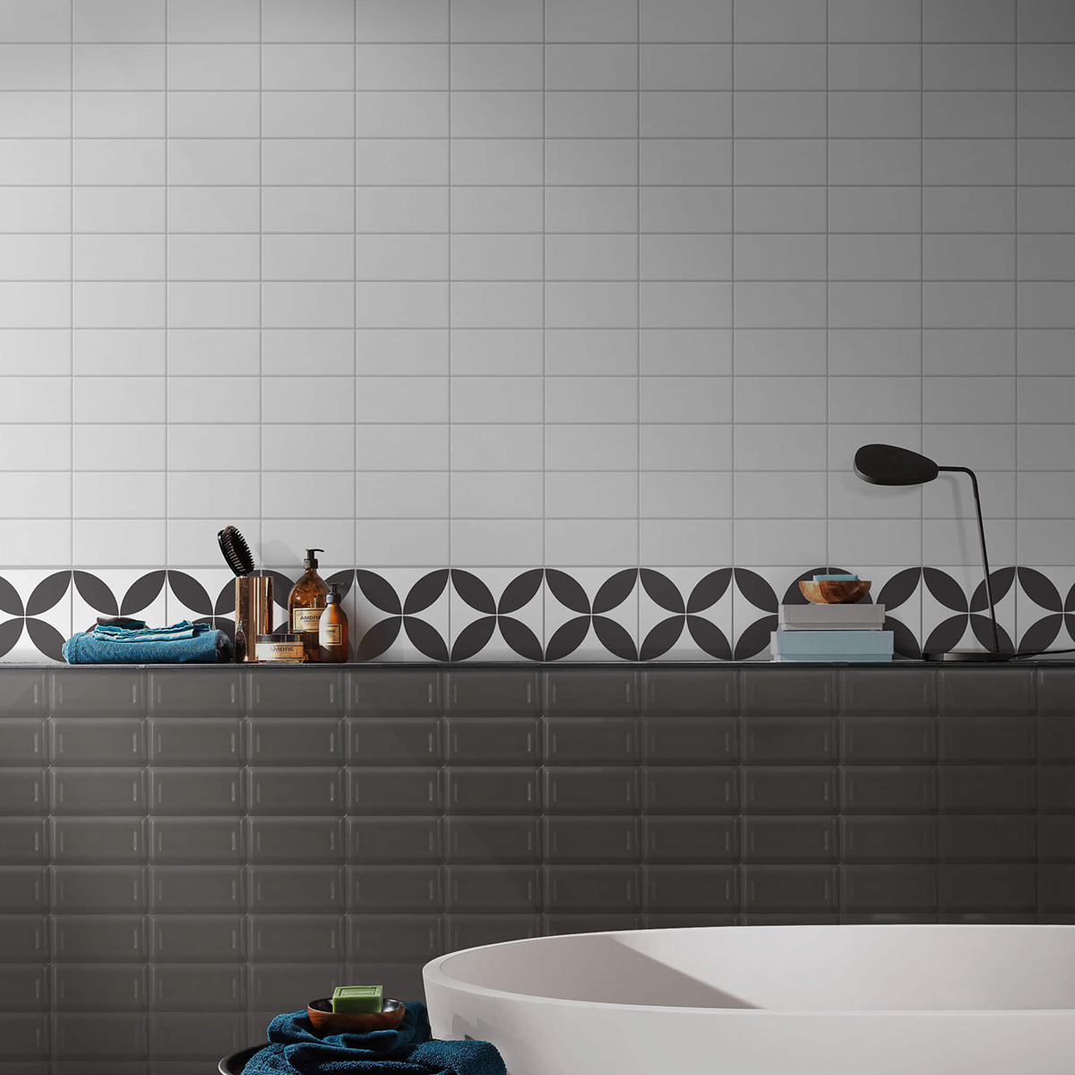 Picasso Flora Black Patterned Tile - Stone3 Brisbane