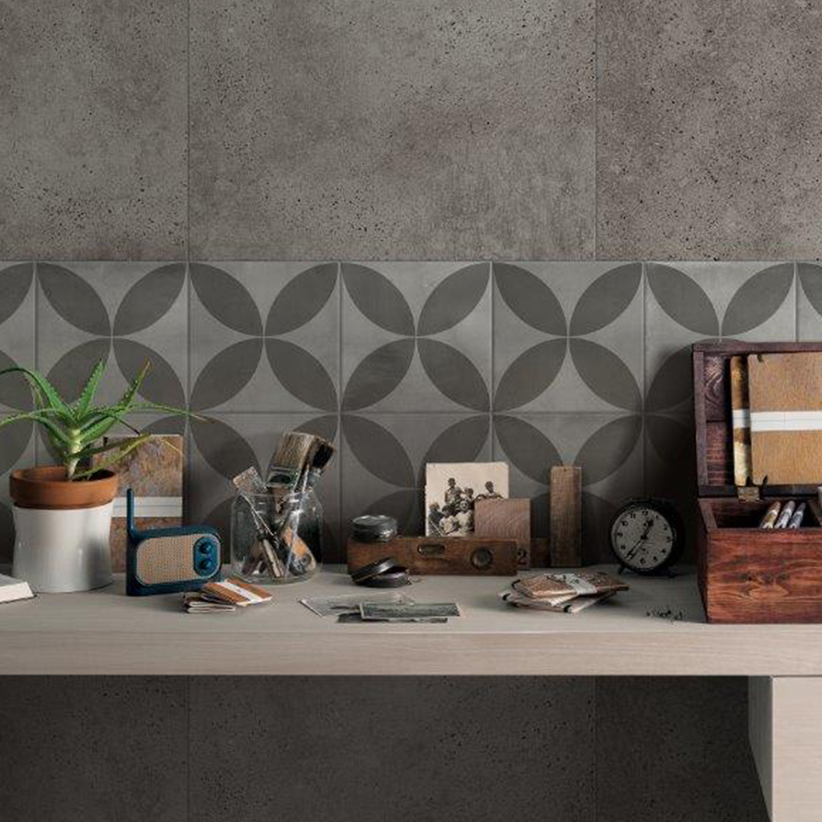 Picasso Flora Grey Patterned Tile - Stone3 Brisbane
