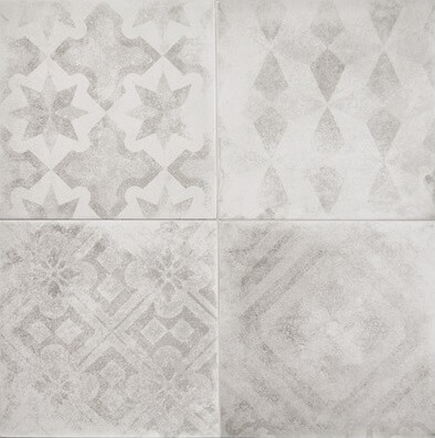 Picasso Mix Rustic Patterned Tile - Stone3 Brisbane