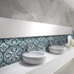 Picasso Norway Teal Patterned Tile - Stone3 Brisbane