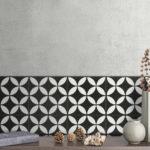 Picasso Star Black Patterned Tile - Stone3 Brisbane