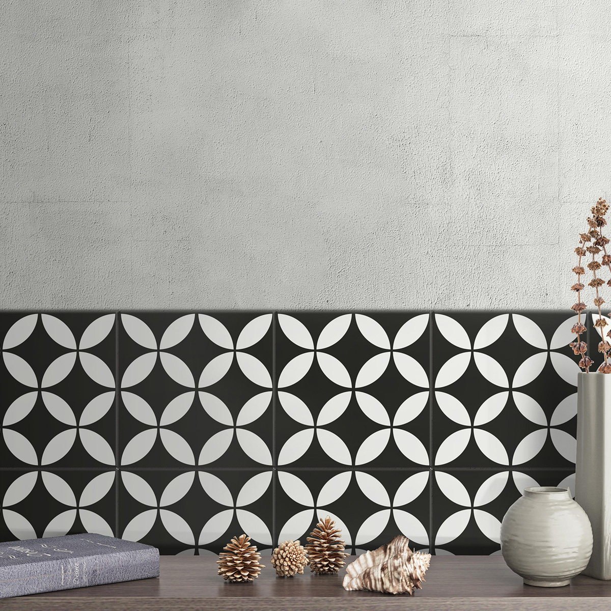 Picasso Star Black Patterned Tile - Stone3 Brisbane