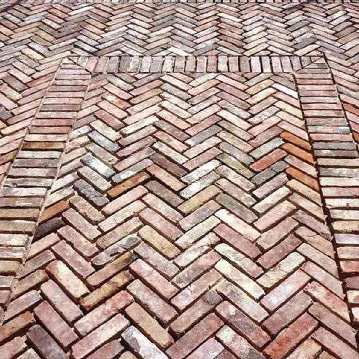 Recycled Brick - Brooklyn - Herringbone - Laid - Stone3 Brisbane