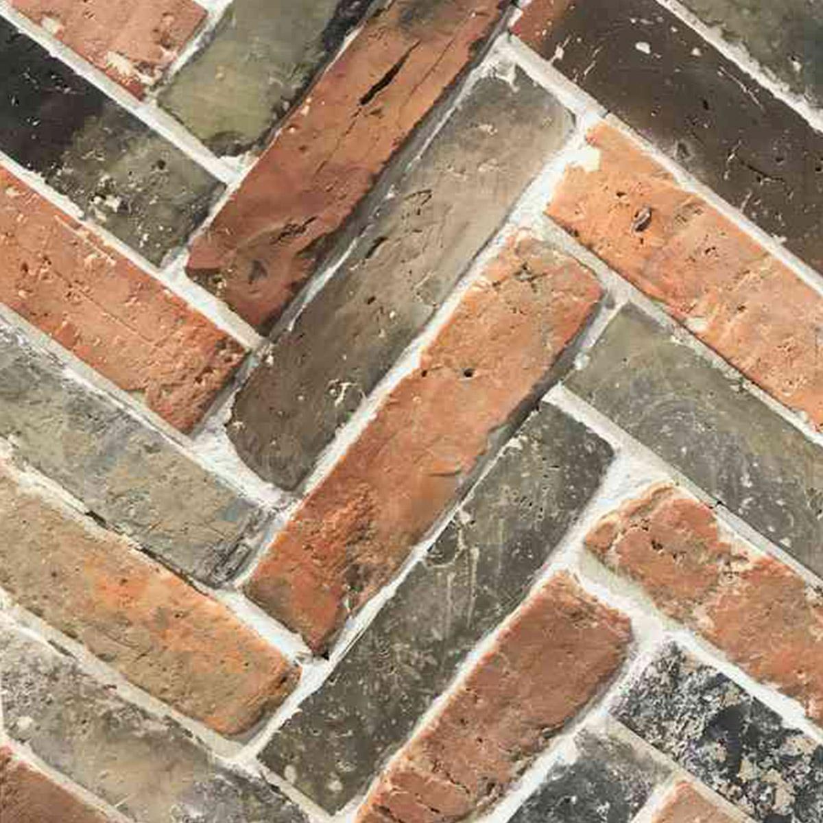 Recycled Brick - Melange - Herringbone - Stone3 Brisbane