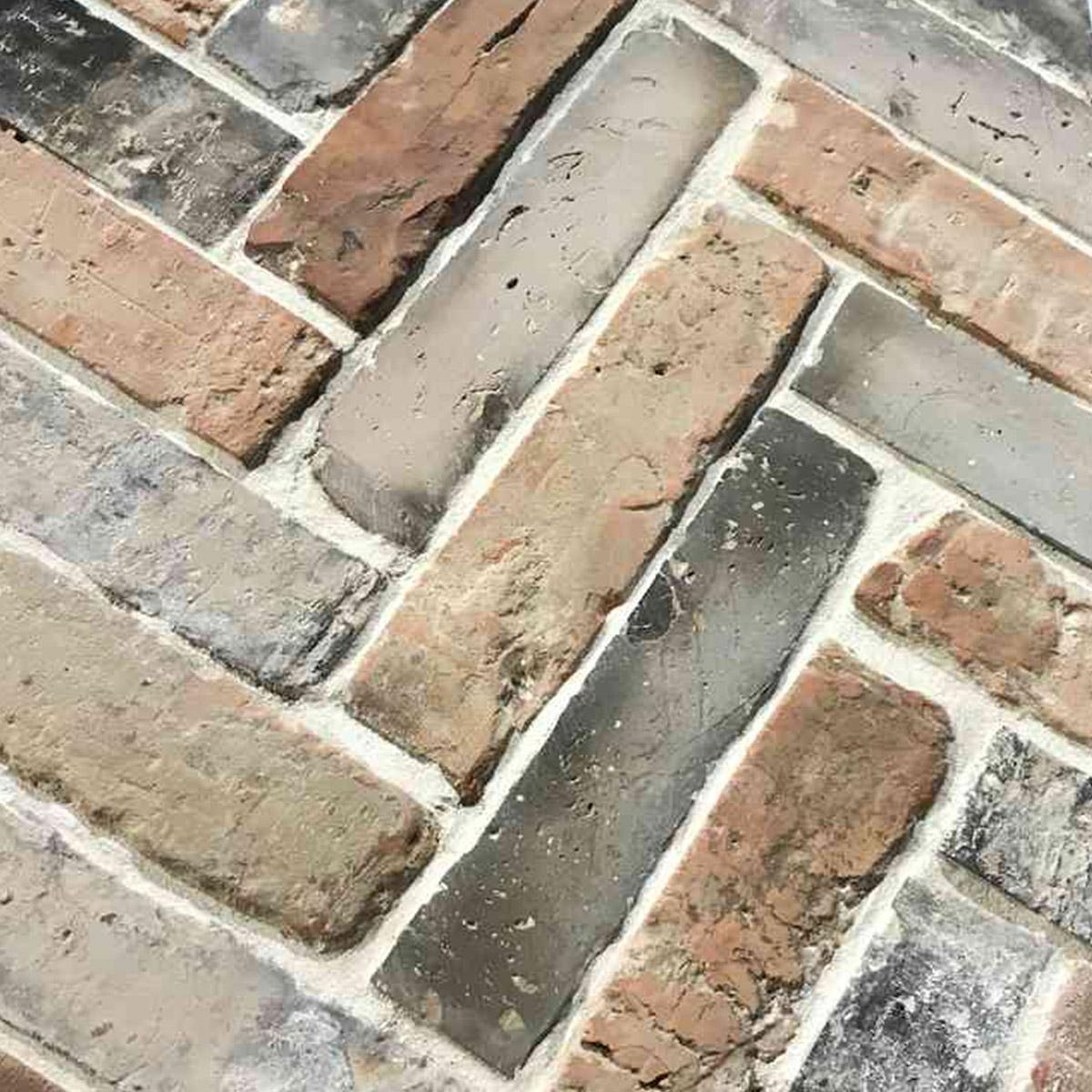 Recycled Brick - Melange - Herringbone laid - Stone3 Brisbane