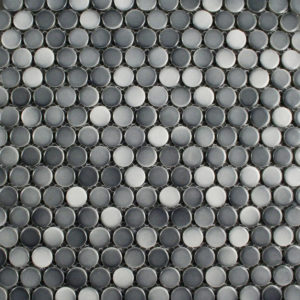 Crystal Glaze Grey Gloss Penny Rounds - Feature Tiles - Stone3 Brisbane