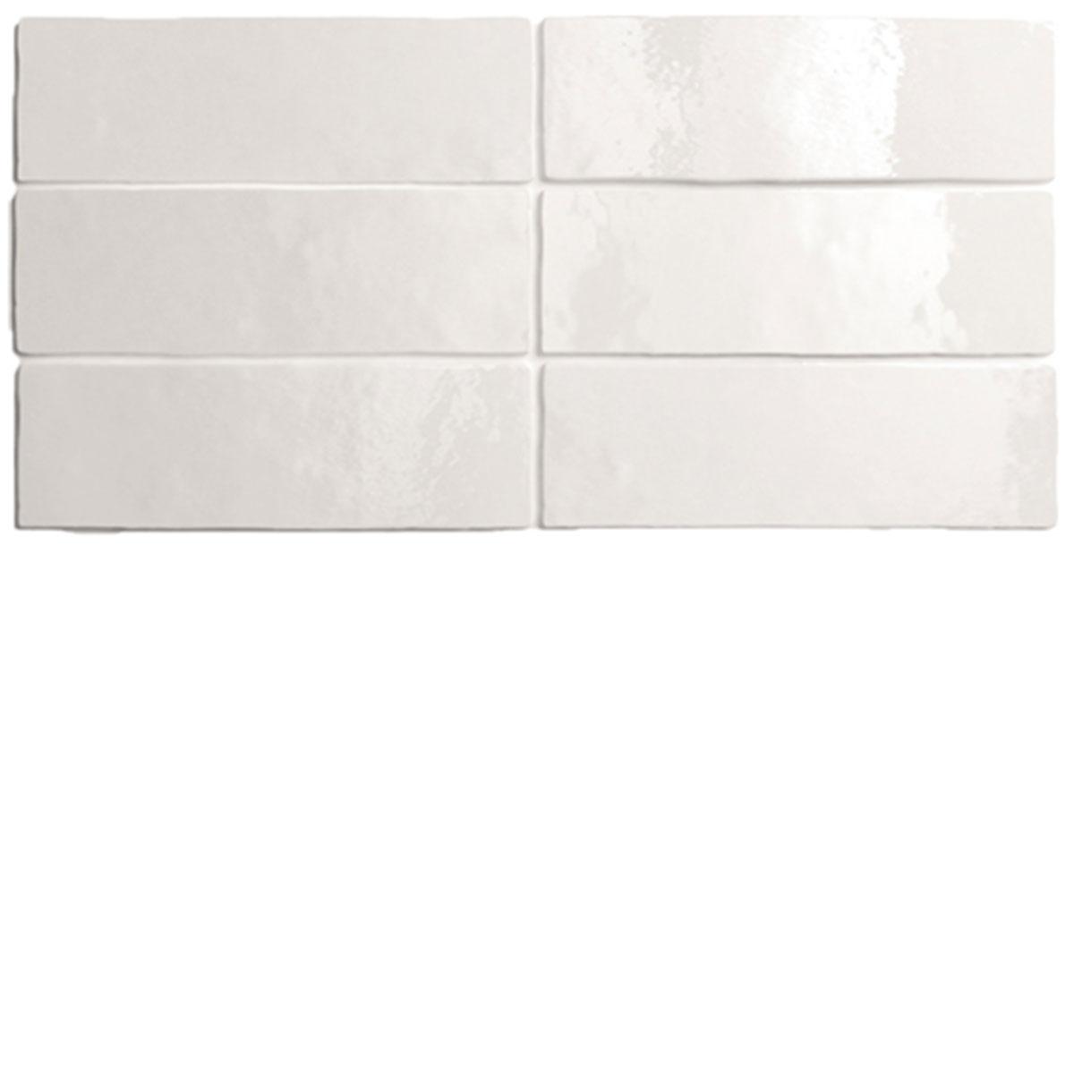 White Artisan Handmade look Rectangle Tile - Stone3 Brisbane