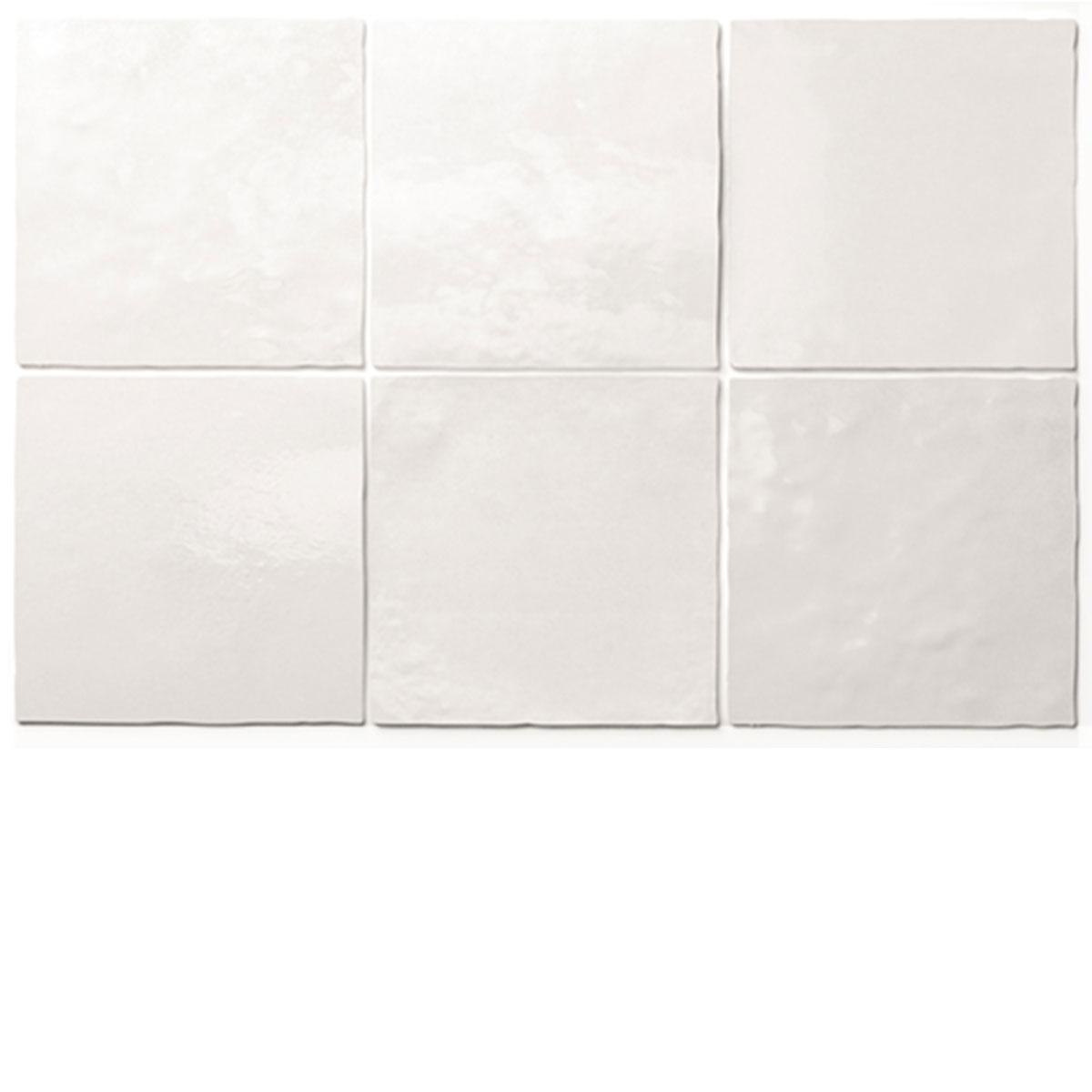 White Artisan Handmade look Square Tile - Stone3 Brisbane