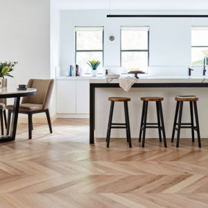 De Marque Oak Timber Flooring - Chevron - Champagne - Stone3 Brisbane