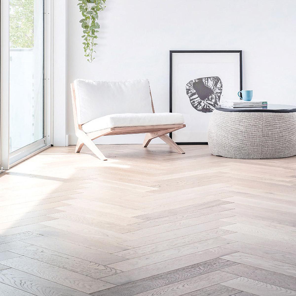 De Marque Oak Timber Flooring - Herringbone - Sauvignon - Stone3 Brisbane