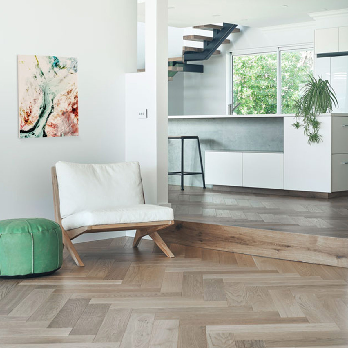 De Marque Oak Timber Flooring - Herringbone - Sauvignon - Stone3 Brisbane