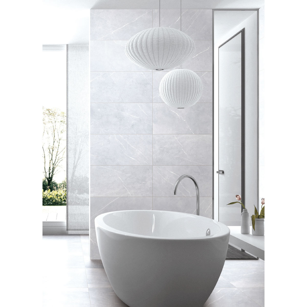 Bracca - Bianco - Marble Look Tiles - Stone3 Brisbane