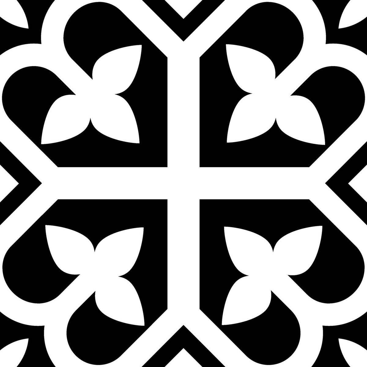 Picasso Evolution - Bloom Black - Patterned Tiles - Stone3 Brisbane