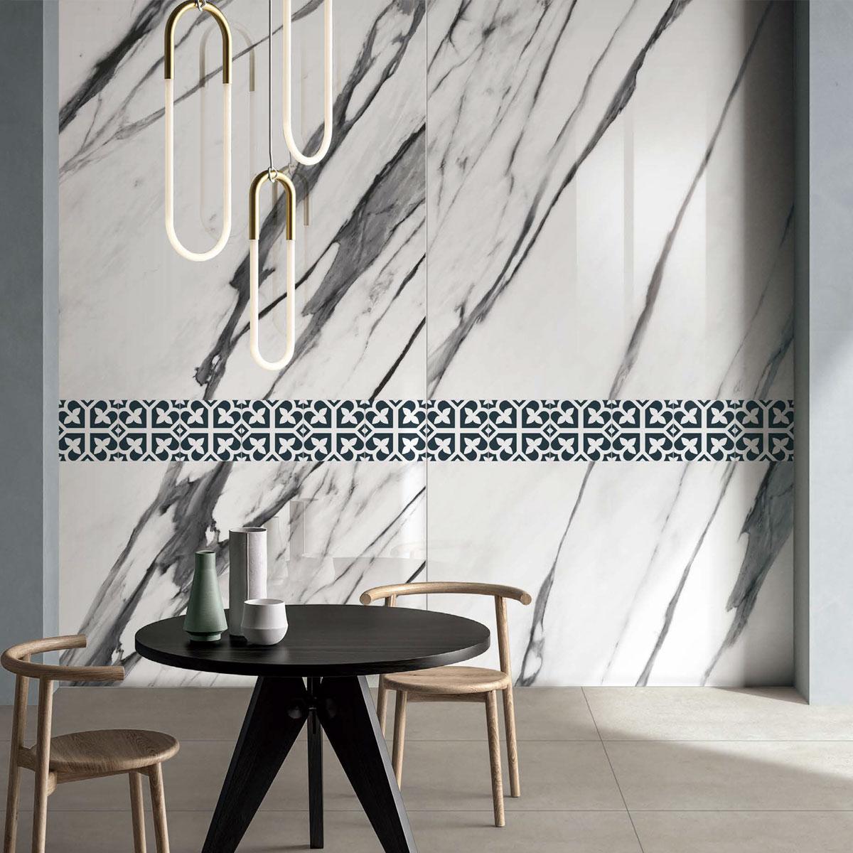 Picasso Evolution - Bloom Navy Blue - Patterned Tiles - Stone3 Brisbane