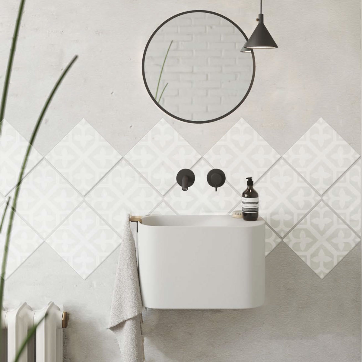 Picasso Evolution - Bloom Pale Green - Patterned Tiles - Stone3 Brisbane