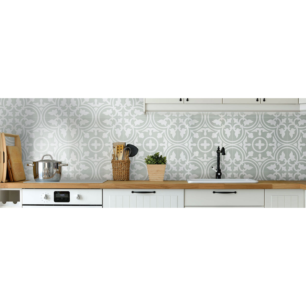 Picasso Evolution - Shadow Pale Green - Patterned Tiles - Stone3 Brisbane