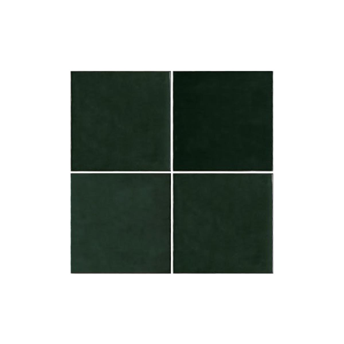 Casablanca - Bottle Green - Square Feature Tiles - 120x120mm