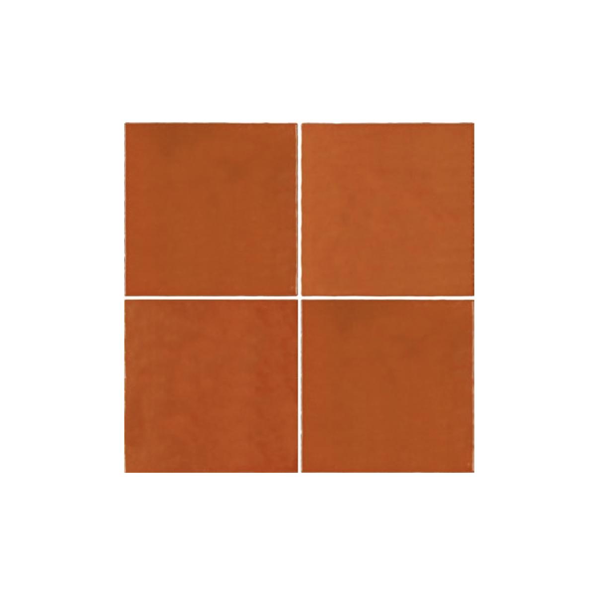 Casablanca - Orange - Square Feature Tiles - 120x120mm