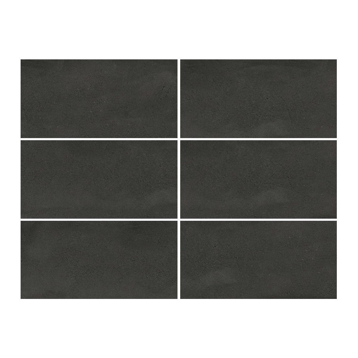 Moonstone - Midnight - Concrete Look Tiles - 300x600mm - Stone3