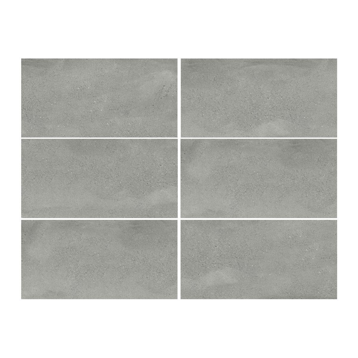 Moonstone - Steel - Concrete Look Tiles - 300x600mm - Stone3
