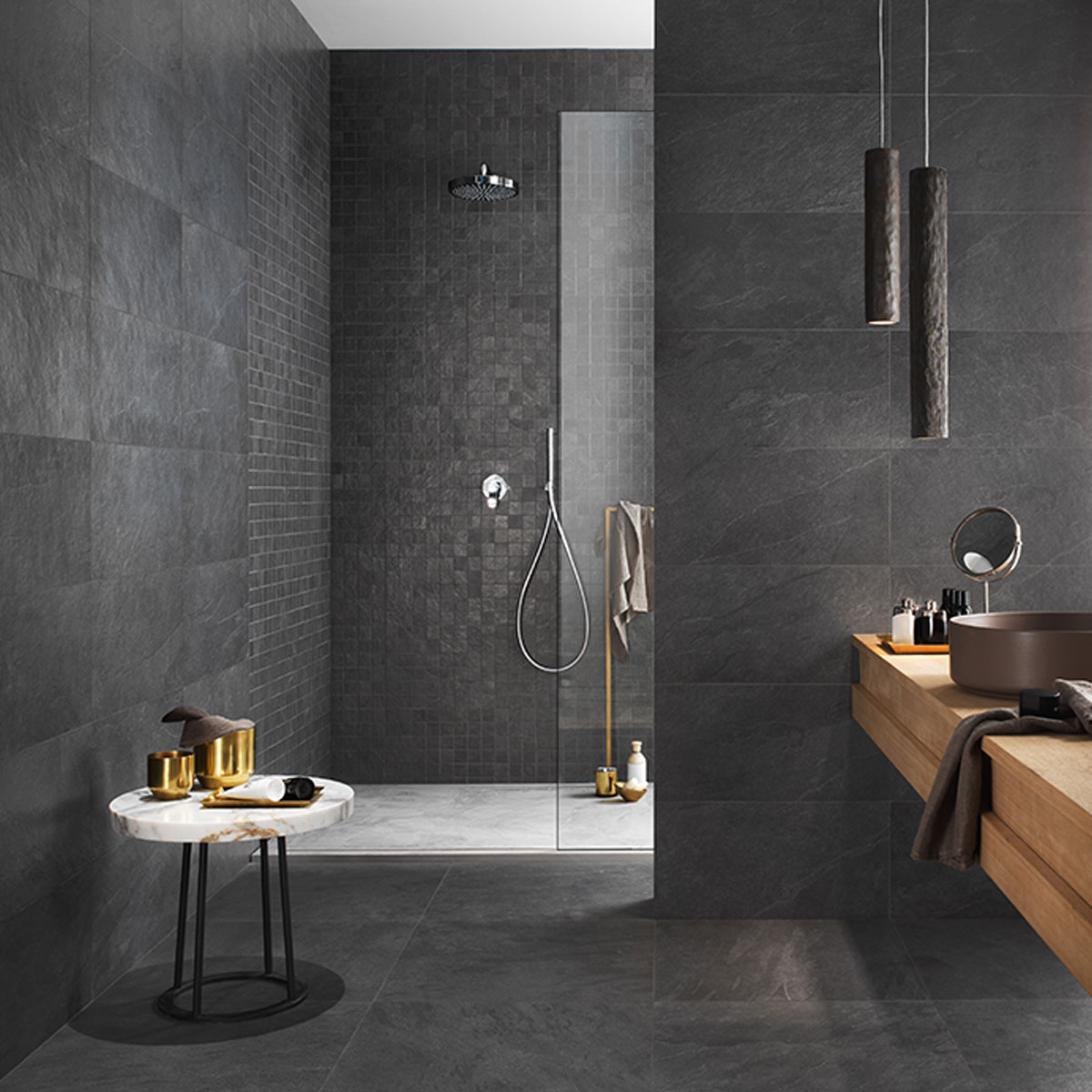 Waterfall - Dark Flow - Matt - Stone Look Tiles - Stone3