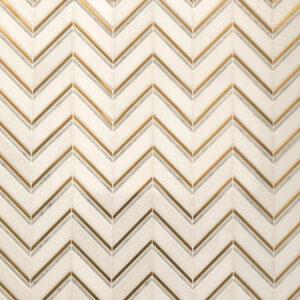 Chevron Lux - Chevron - Mosaic Tiles - Stone3