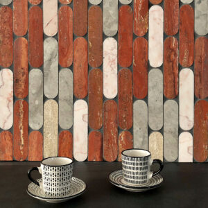 Tictax - Rosa, Tunis Grey, Roman Trav, Rosado, Honed - Mosaic and Feature Tiles - Stone3 Brisbane