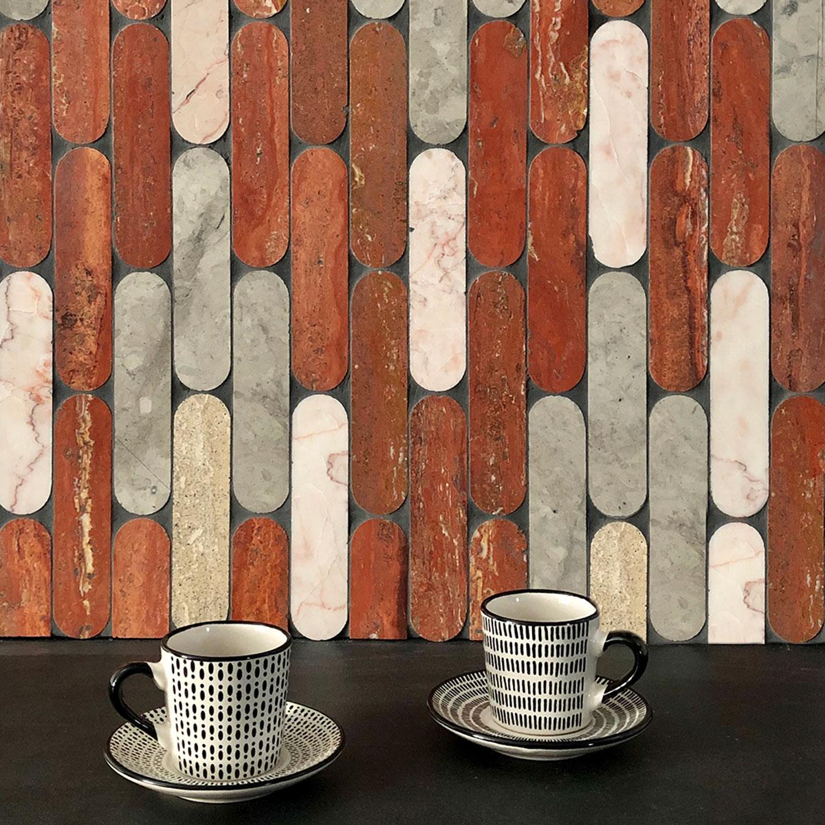 Tictax - Rosa, Tunis Grey, Roman Trav, Rosado, Honed - Mosaic and Feature Tiles - Stone3 Brisbane