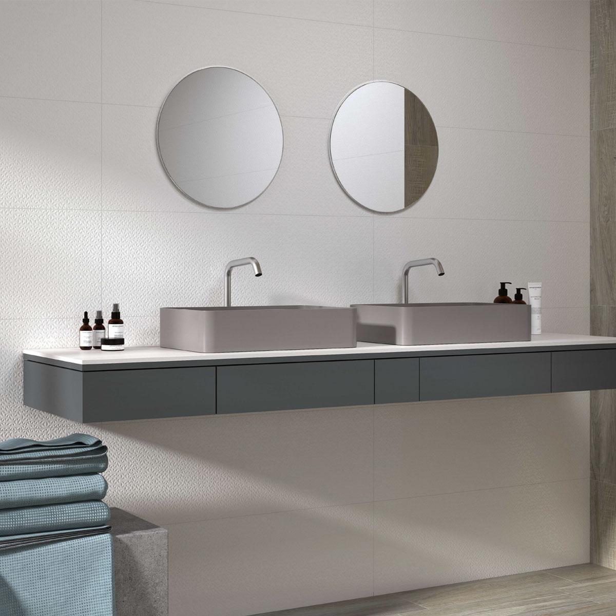 Arty - Kyoto White - Patterned Tiles - Stone3 Brisbane