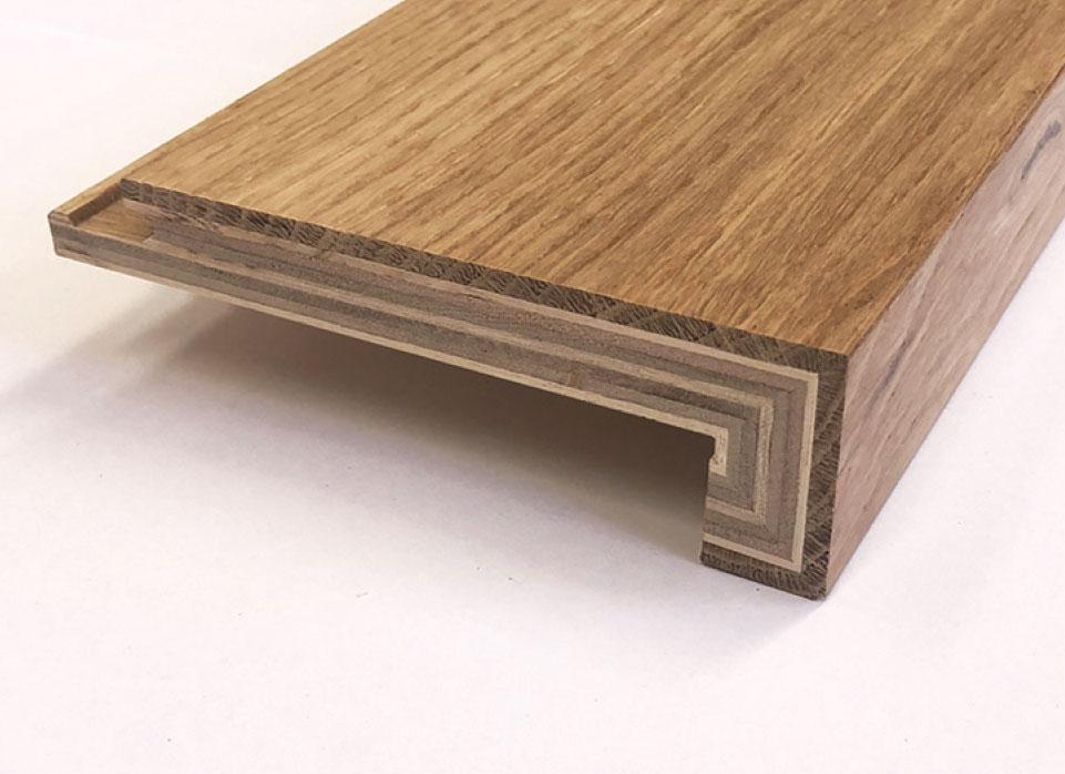 Prestige Oak - Stair Nosing - Engineered Timber Flooring - Stone3 Brisbane
