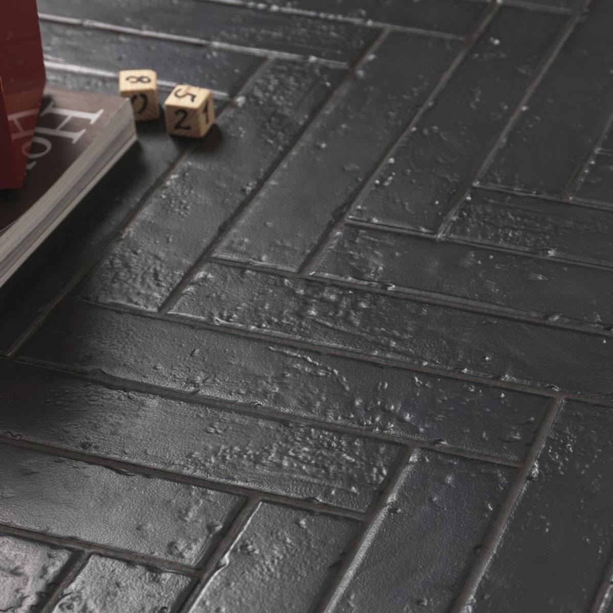 Antique black matt subway tile - Stone3 Brisbane