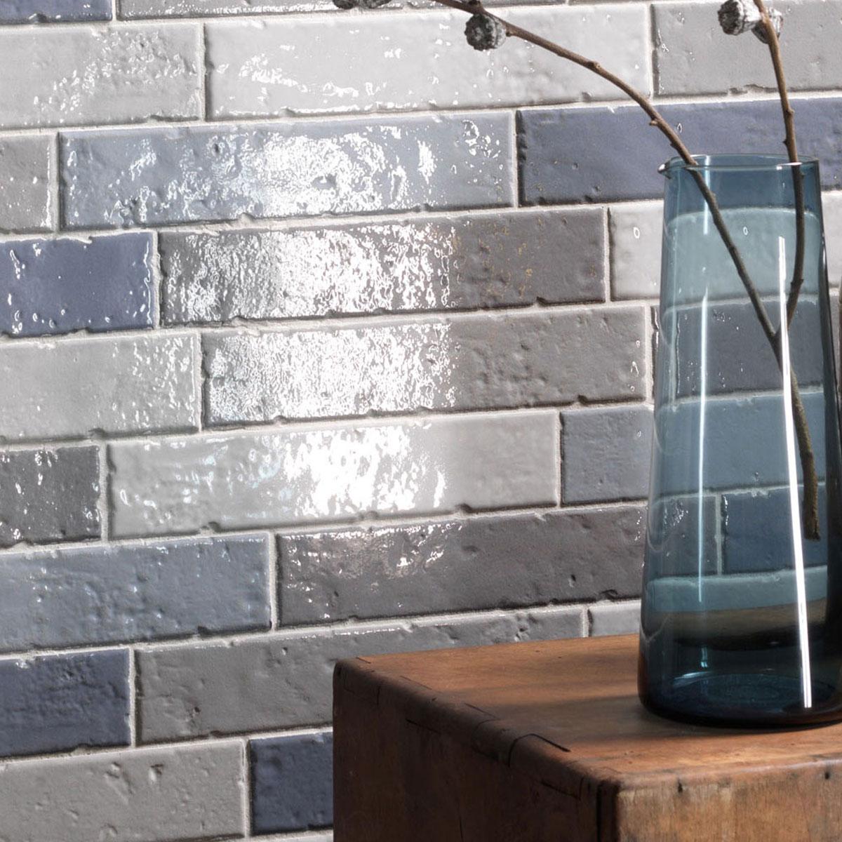 Brickart - gloss - full white half white savannah seagrass - subway tile - Stone3 Brisbane
