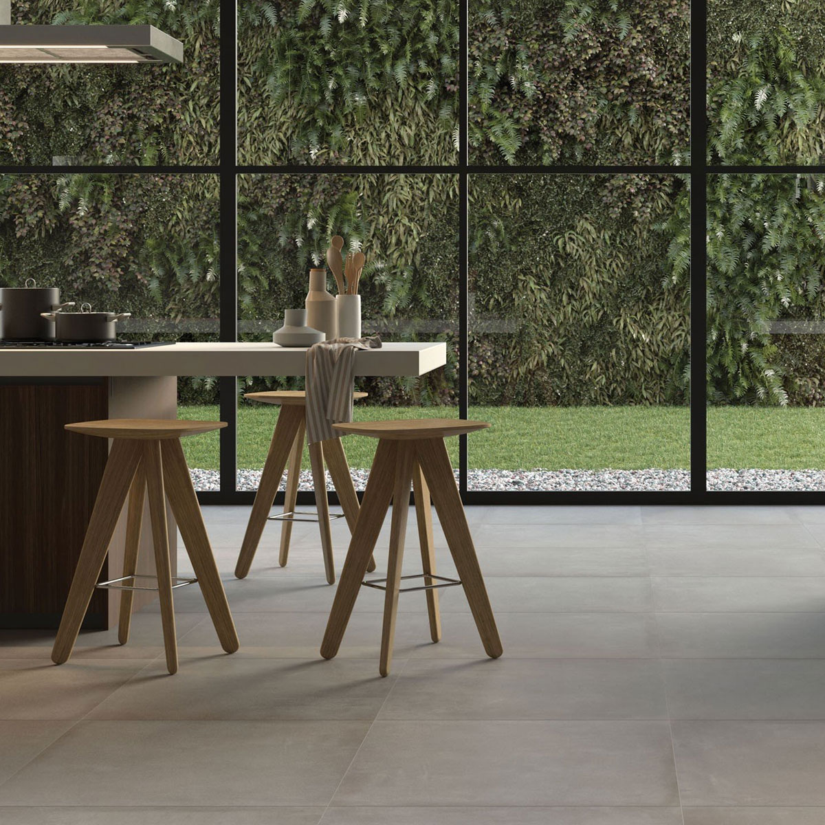 Basic Concrete - Grey - Concrete Look Tiles - Stone3 Brisbane