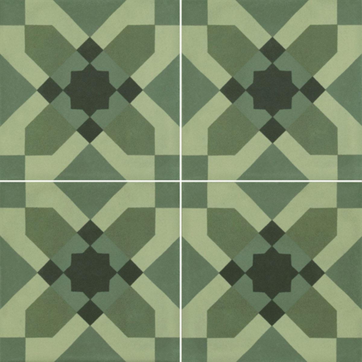 D_Segni Blend - Deco - Verde - Patterned Tiles - Stone3