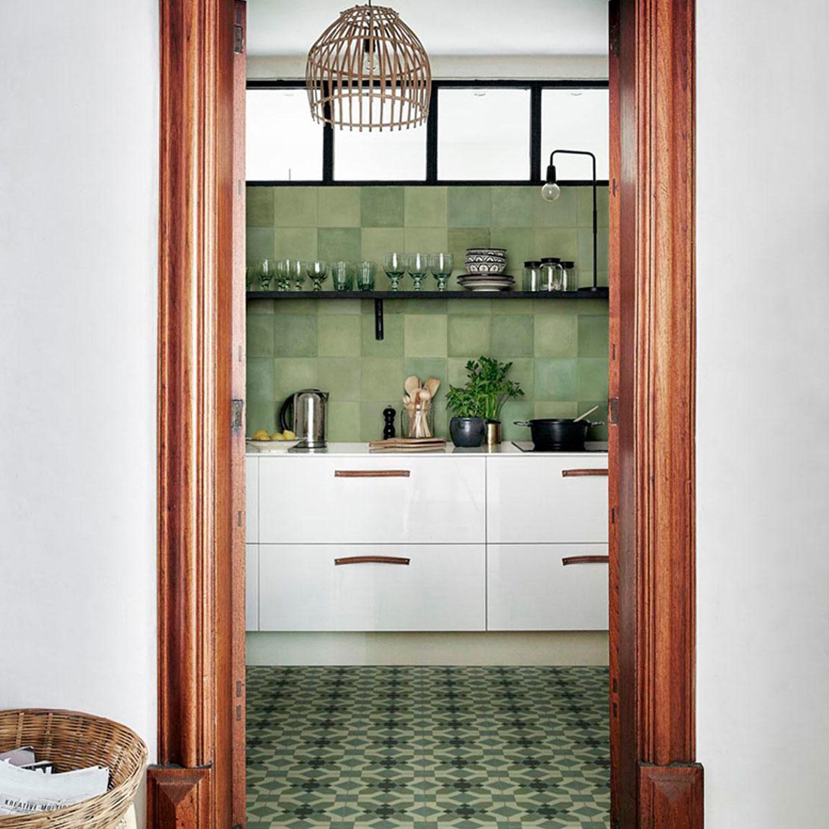 D_Segni Blend - Verde - Encaustic Look Tiles - Stone3
