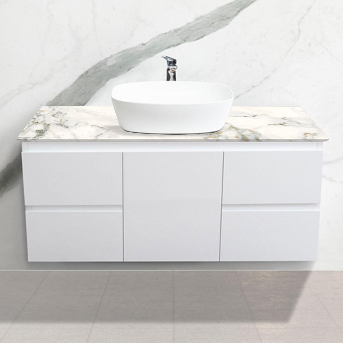 Cabinet - Vanity- 1 Door + 4 Drawers - Ballet - Stone3 Brisbane
