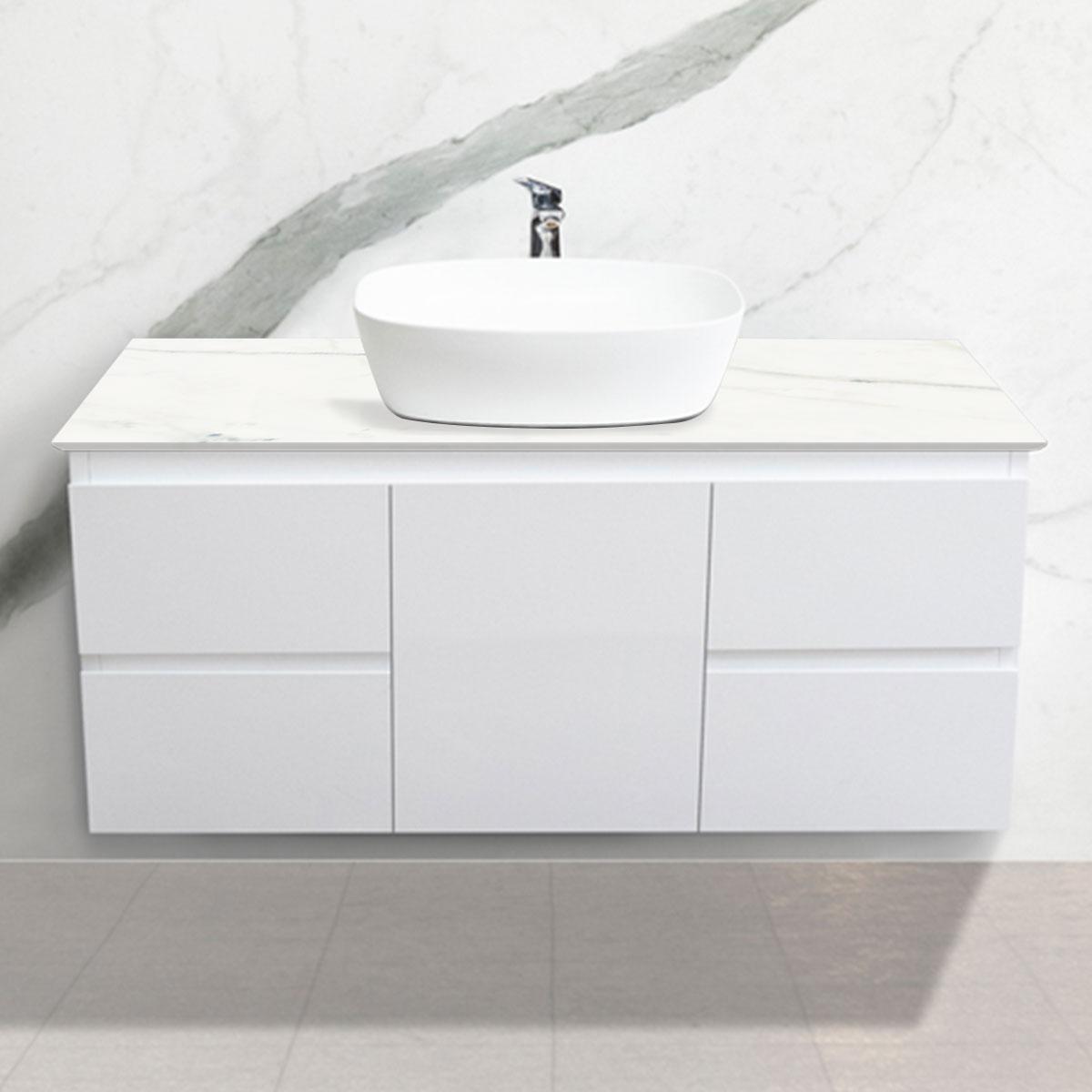 Cabinet - Vanity- 1 Door + 4 Drawers - Calacatta - Stone3 Brisbane