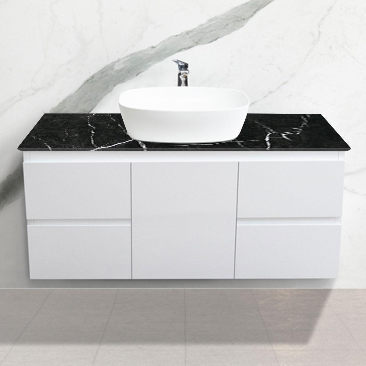Cabinet - Vanity- 1 Door + 4 Drawers - Nero Marquina - Stone3 Brisbane
