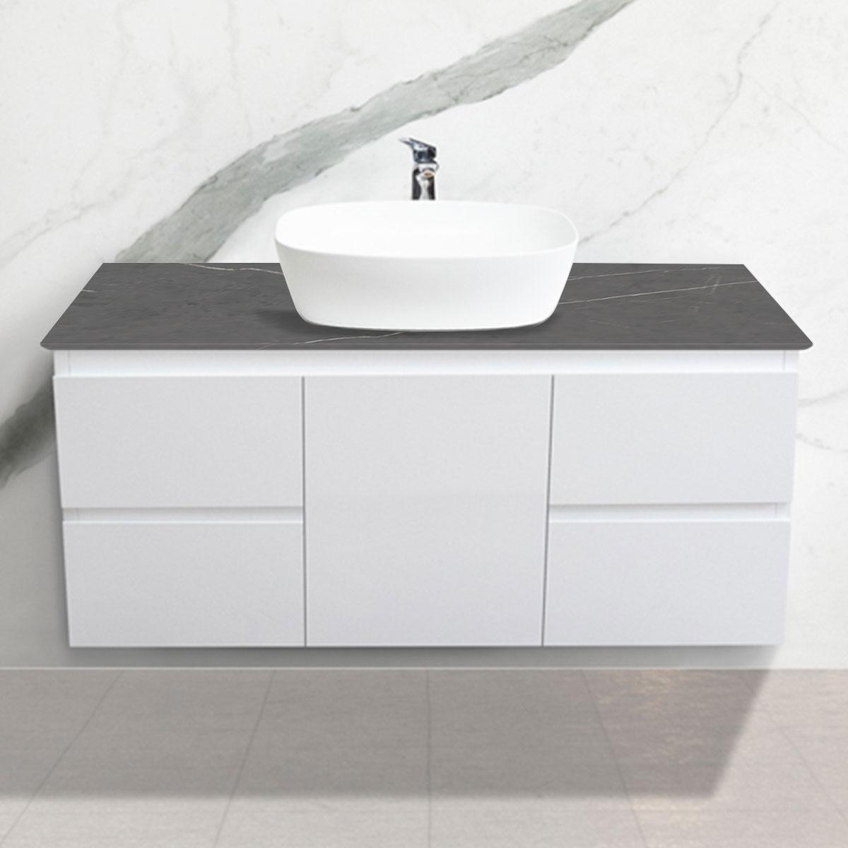 Cabinet - Vanity- 1 Door + 4 Drawers - Pietra Grey - Stone3 Brisbane