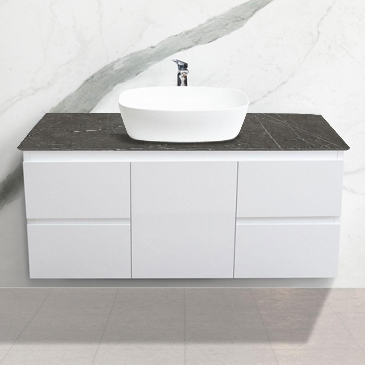 Cabinet - Vanity- 1 Door + 4 Drawers - Pietra Grigia - Stone3 Brisbane