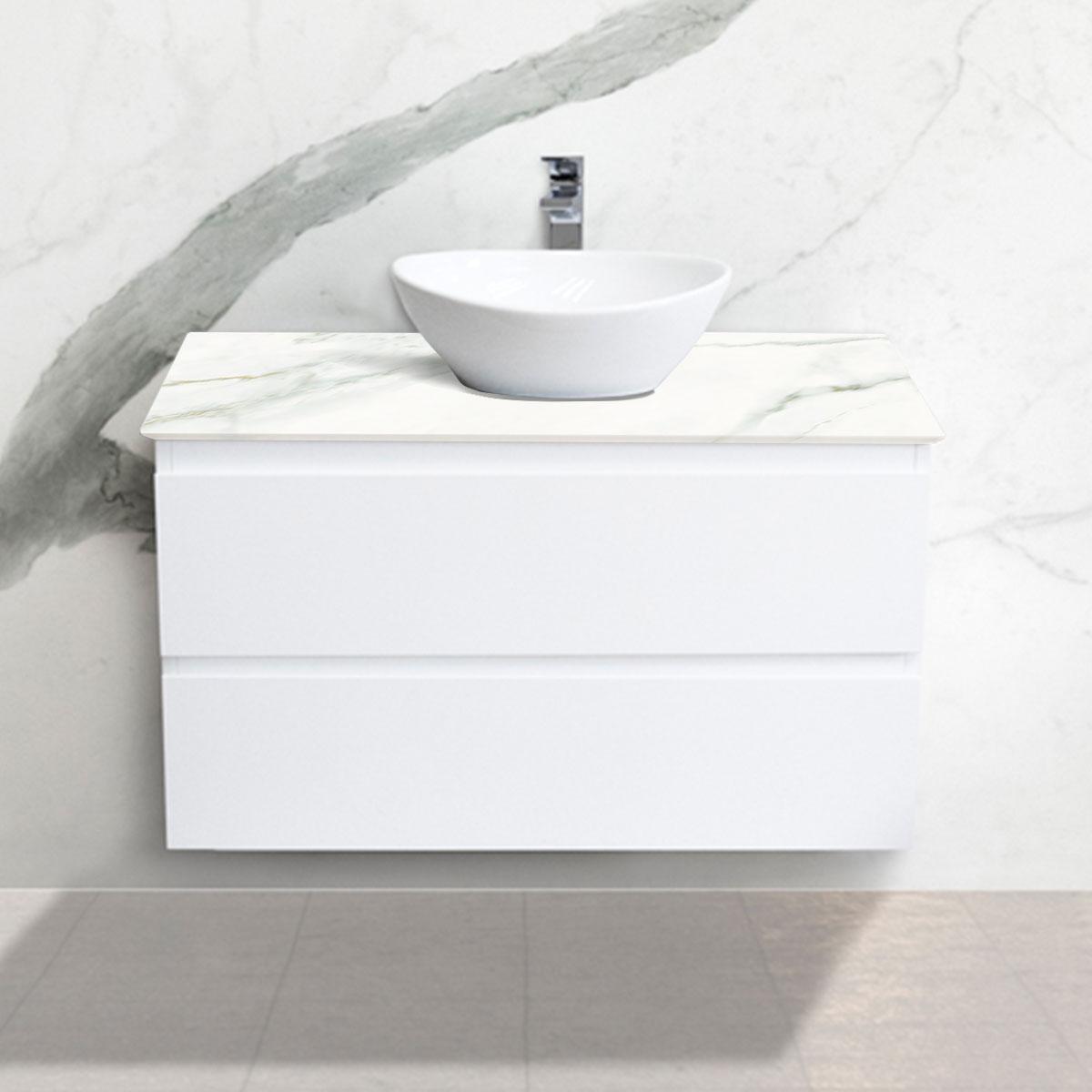 Cabinet - Vanity- 2 Drawers - Calacatta Oro - Stone3 Brisbane