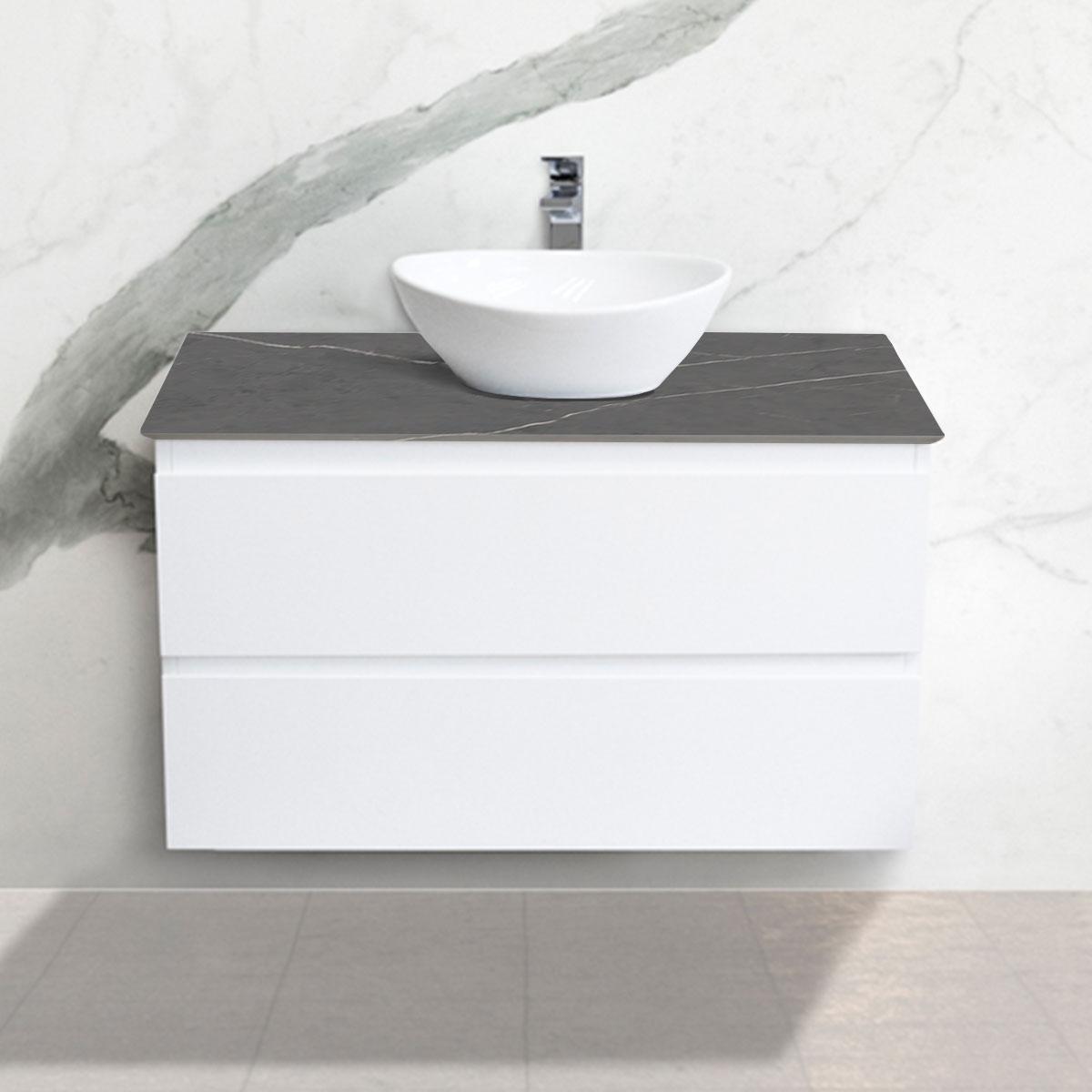 Cabinet - Vanity- 2 Drawers - Pietra Grey - Stone3 Brisbane