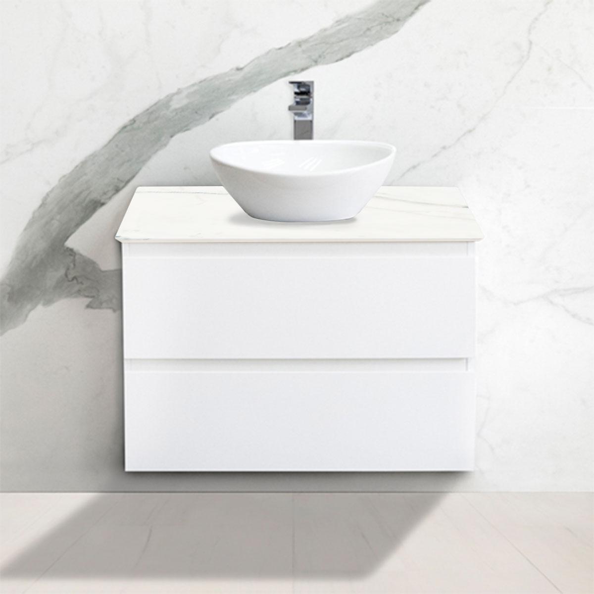 Cabinet - Vanity- 2 Drawers - Calacatta - Stone3 Brisbane