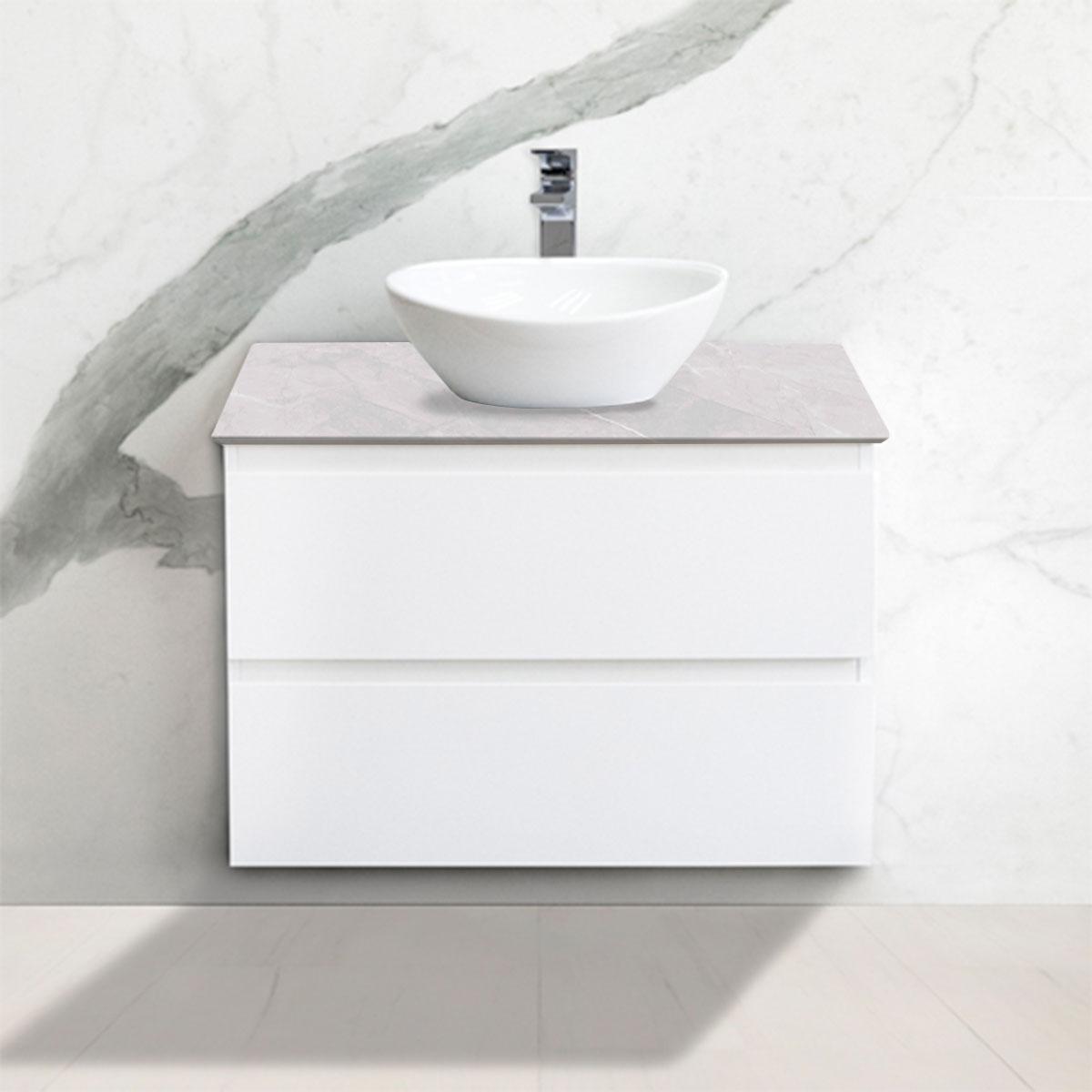 Cabinet - Vanity- 2 Drawers - Ice Grey - Stone3 Brisbane