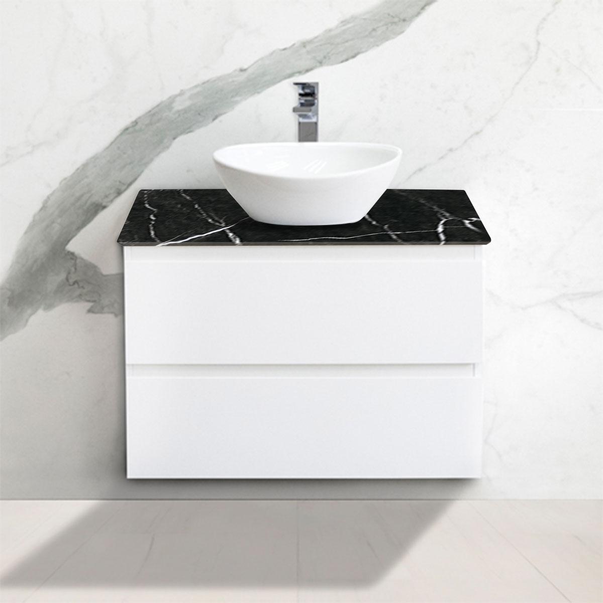 Cabinet - Vanity- 2 Drawers - Nero Marquina - Stone3 Brisbane