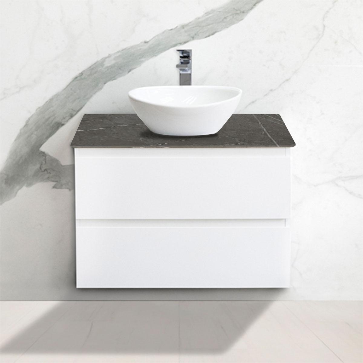 Cabinet - Vanity- 2 Drawers - Pietra Grigia - Stone3 Brisbane