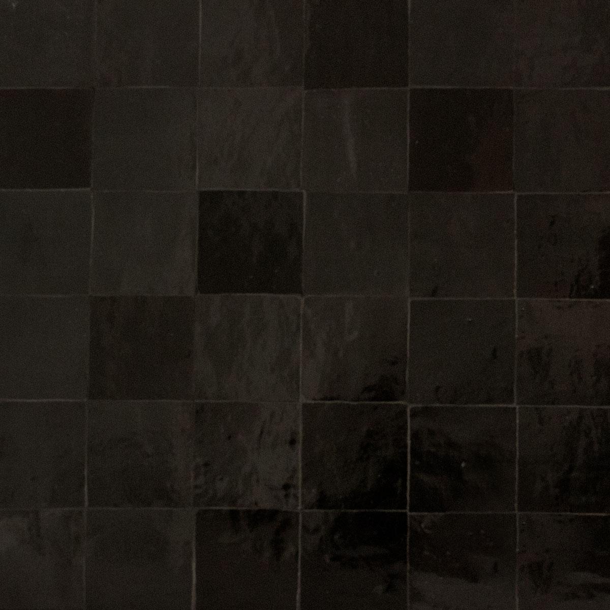 Clay Zellige - Black - Moroccan feature tiles - Stone3 Brisbane